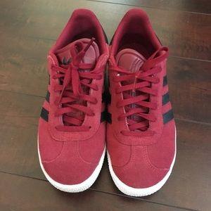 Adidas Gazelle Burgundy Suede Shoes